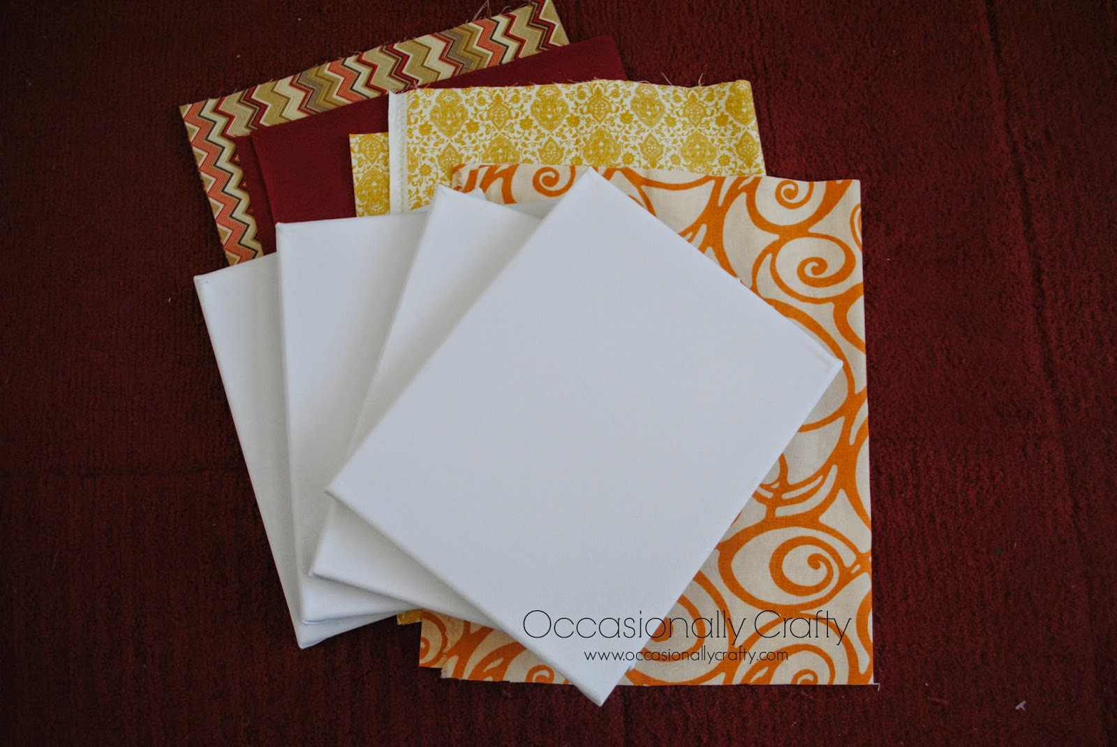 Sister 39 S Challenge Fabric Wrapped Canvas With Wax Paper
