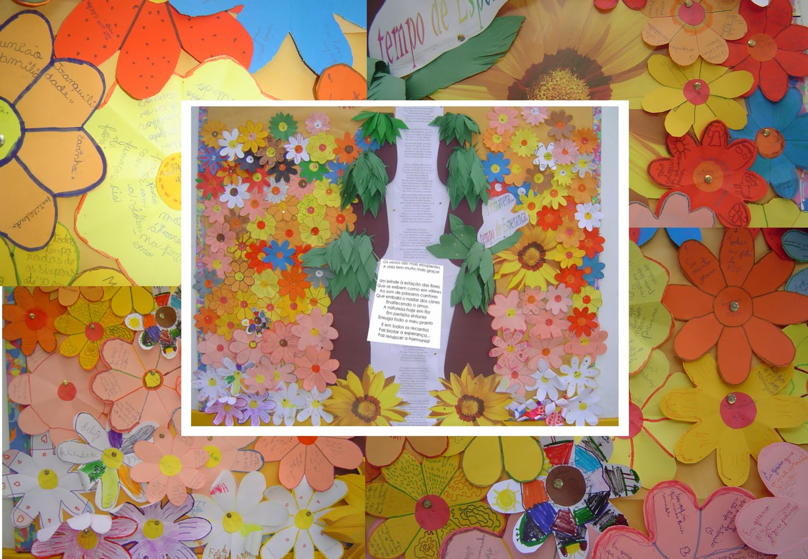 Atividades na educa ao infantil mural primavera for Mural sobre o meio ambiente