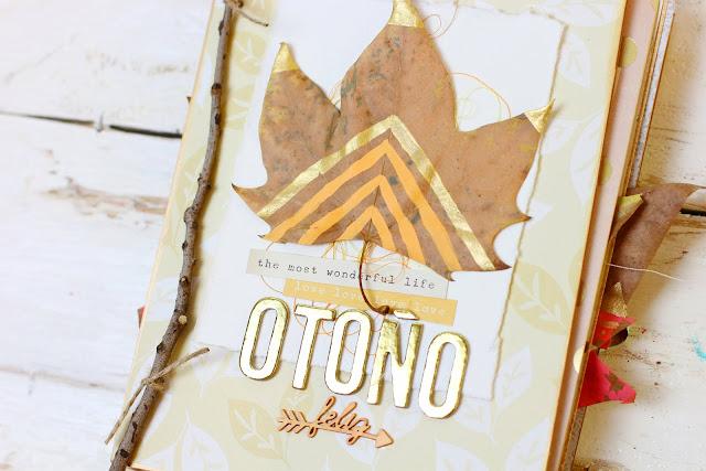 Mini álbum scrapbooking otoño, por Àurea Estellé