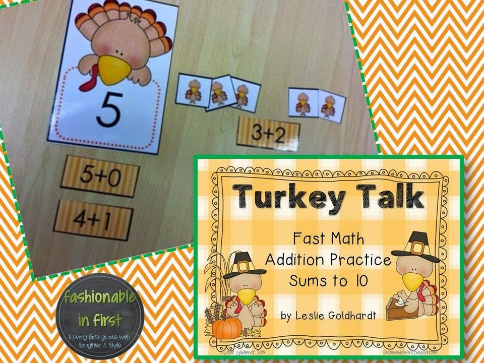 http://www.teacherspayteachers.com/Product/Sums-to-10-Turkey-Talk-Addition-to-10-405771