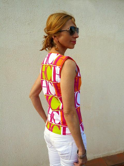 imagen camiseta sin mangas Carolina Herrera