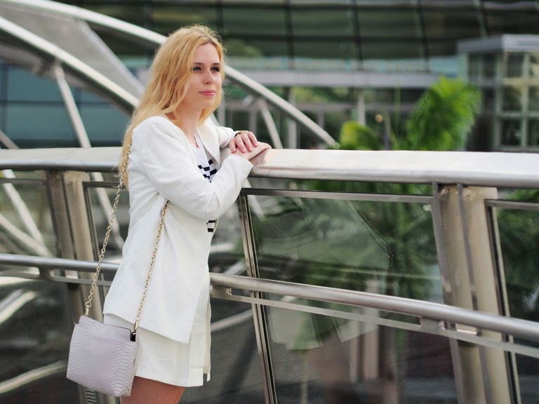 women white suit