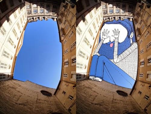 فنان يستخدم السماء لصنع لوحات