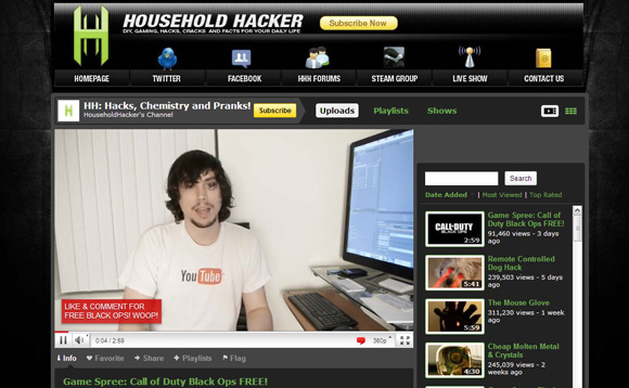 HouseholdHacker Top 10 Best How To YouTube Video Channels
