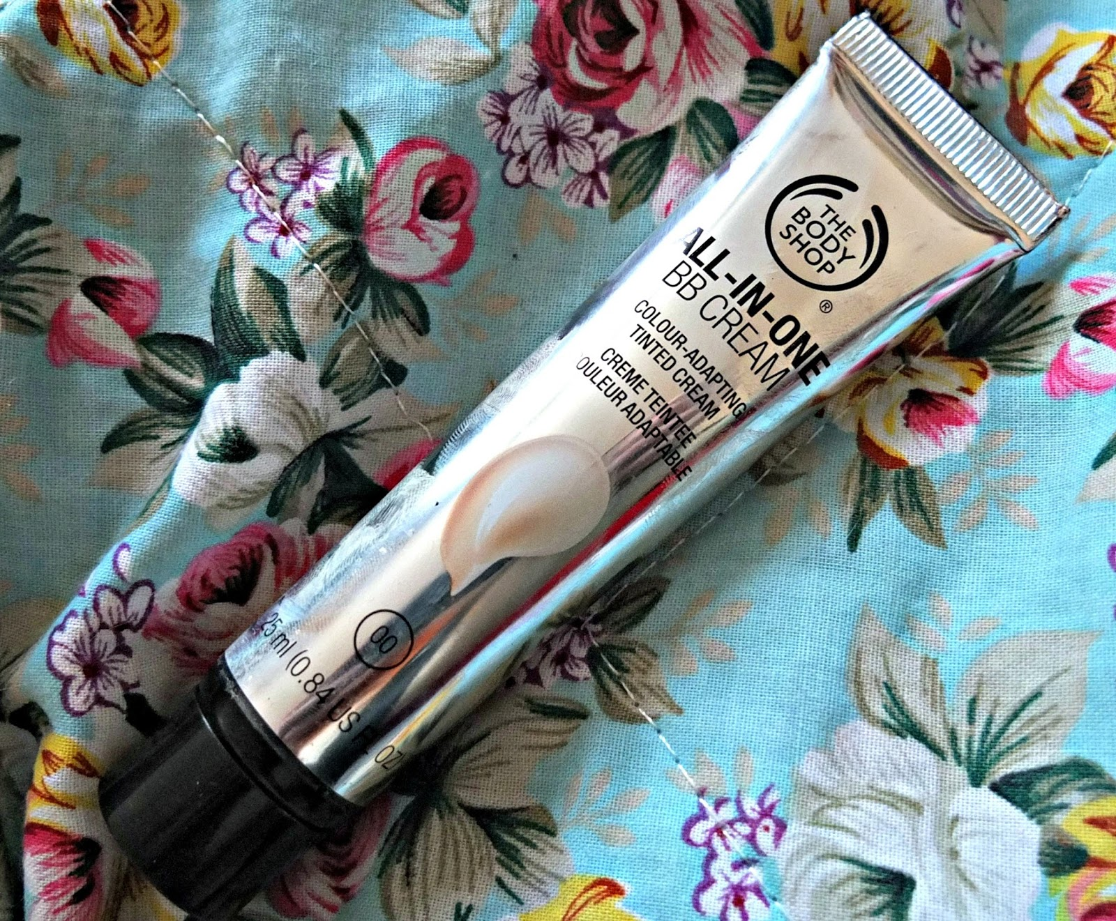 UK blog review of the body shop all in one BB cream on Hello Terri Lowe.