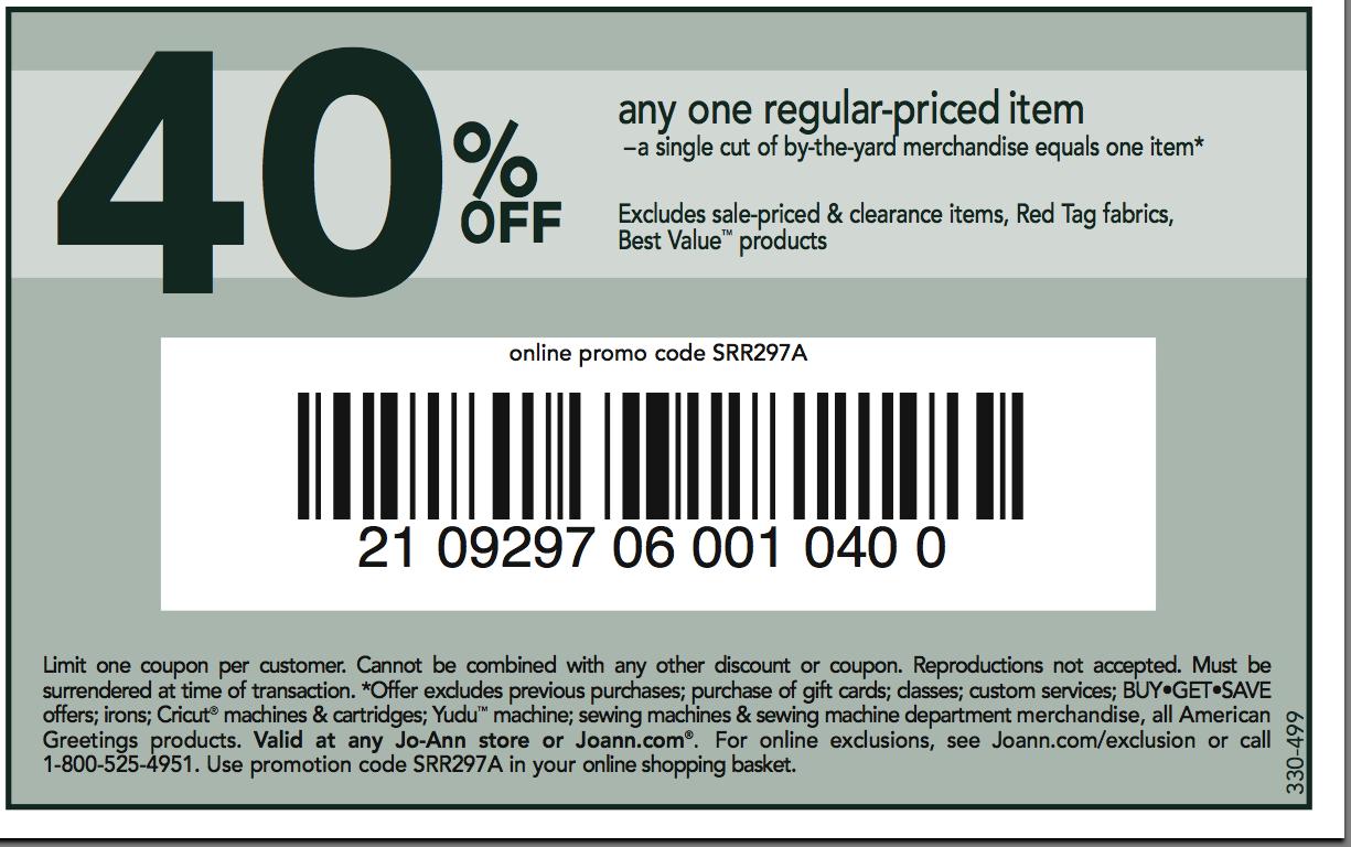 Joann fabrics printable coupons february 2018