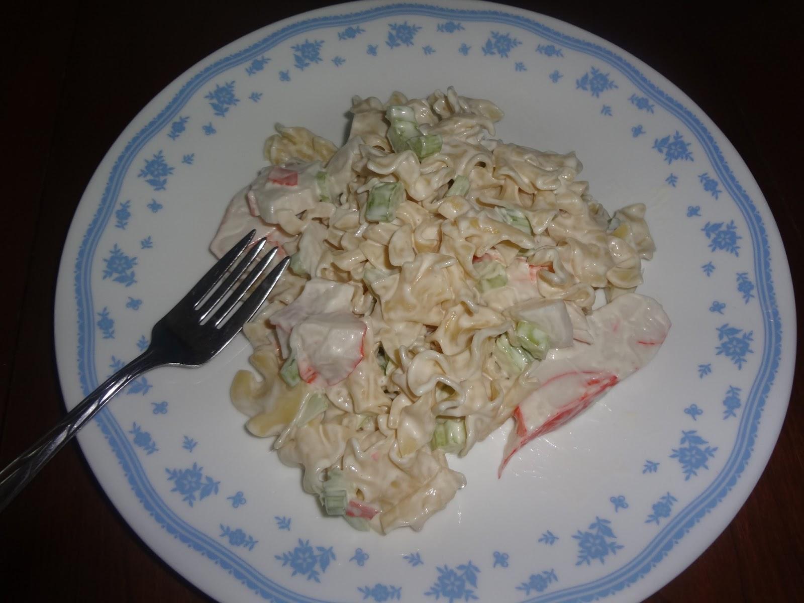 Recipe ~Pasta Crab Salad http://www.niftynnifer.com/2013/07/pasta-crab-salad-recipe.html #Recipe #Food