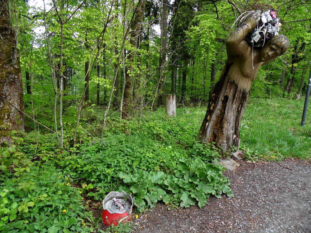 Unusual sculpture on the nature trails around the Königstuhl, taken by Andie Gilmour
