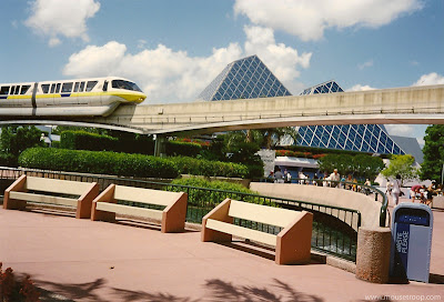 Epcot Monorail Future World Journey Imagination benches