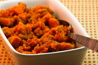 Slow Cooker Spicy Sweet Potatoes from Kalyn's Kitchen found on SlowCookerFromScratch.com