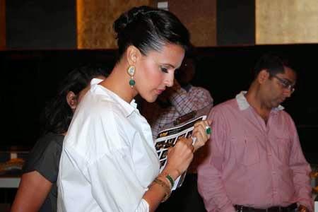 Neha Dhupia Latest Photos at Retail Jeweller India Awards 2014 Jury Meet