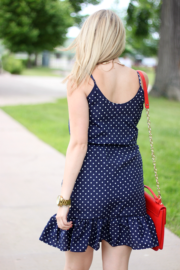 Joe Fresh Polka Dot Ruffle Hem Dress