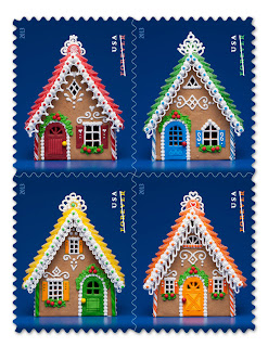 New Postal Stamps Gingerbread Houses