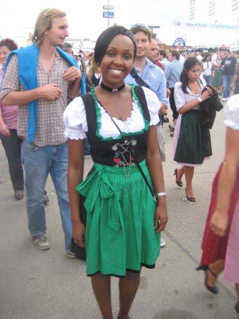 Black girl in dirndl unmarried