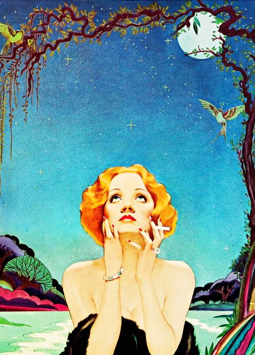 Marlene Dietrich vista por Alberto Vargas