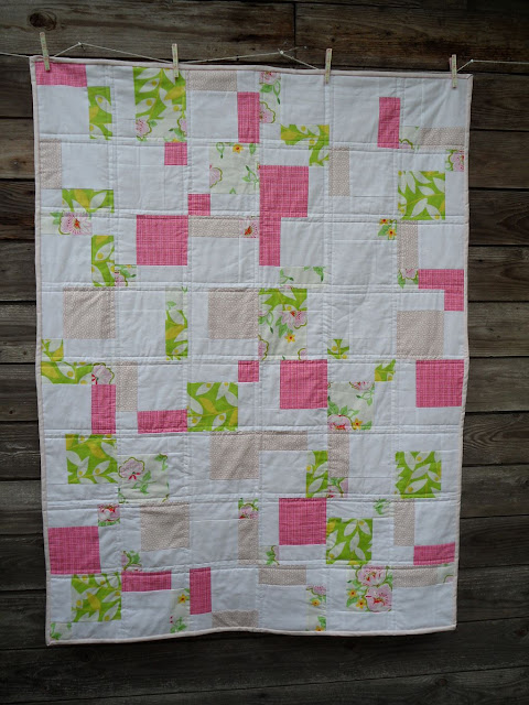 Pretty in Pink Disappearing Nine Patch Quilt