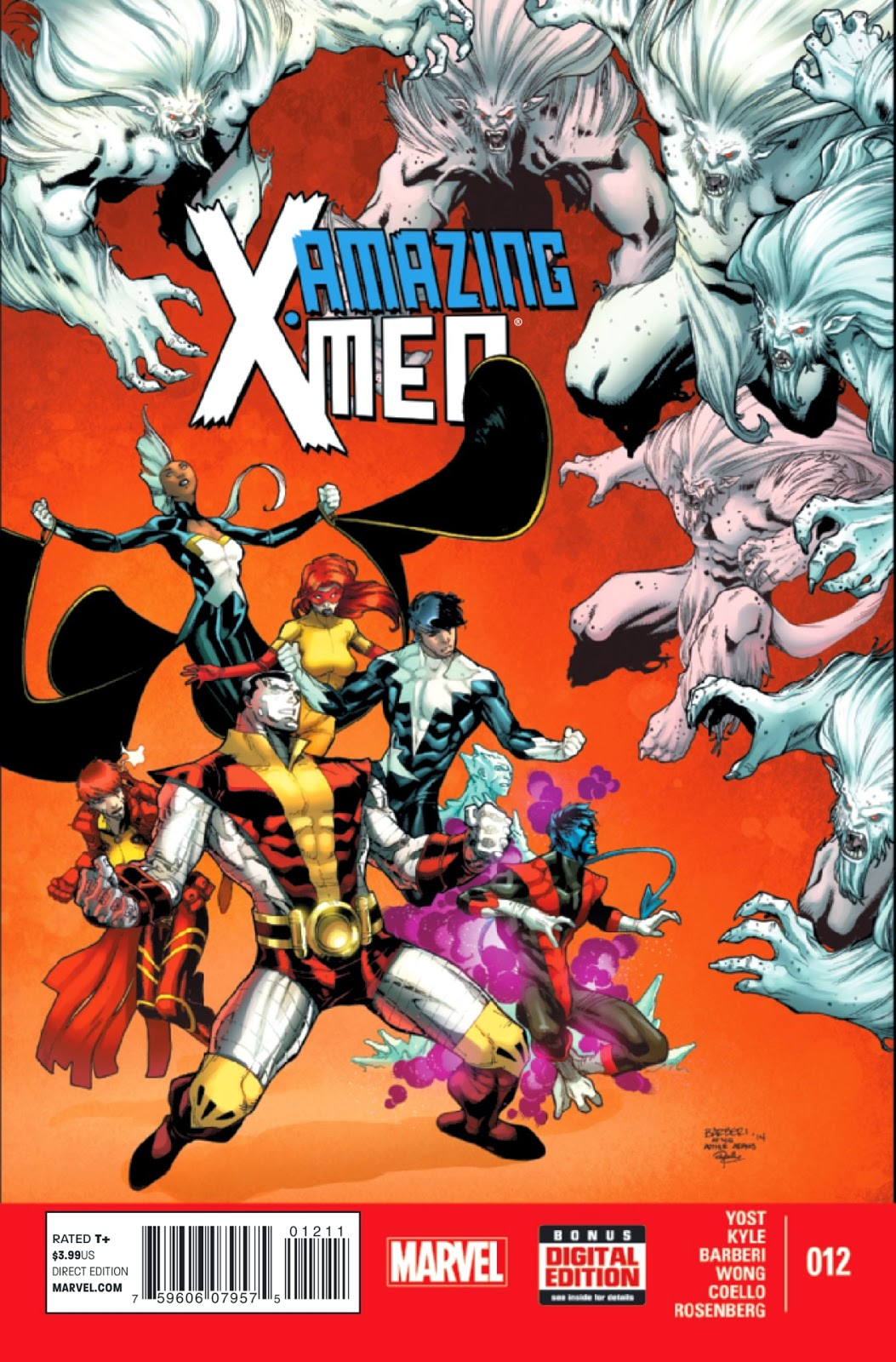 Amazing X-Men 12 Wolrd War Wendigo Conclusion Cover