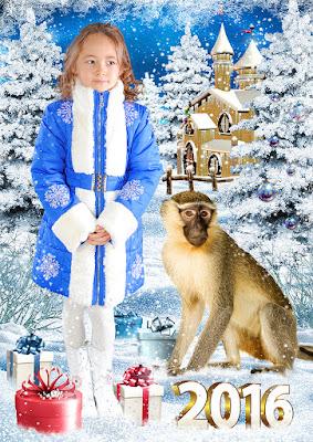 открытка с обезьянами