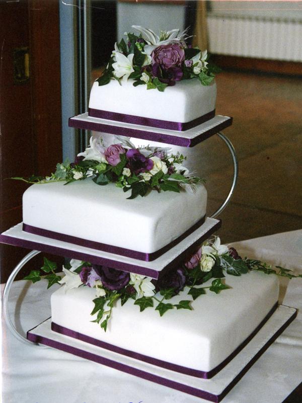 fashion and art trend elegant wedding cake