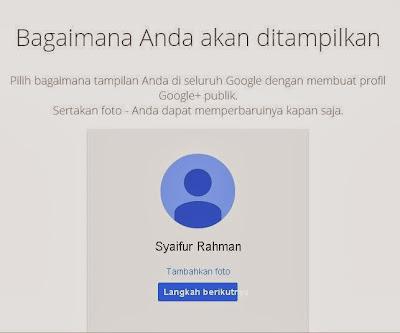 Tambahkan foto akun email Gmail Anda.