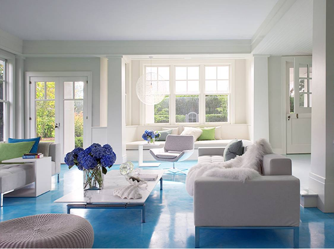 Seaseight design blog reader request light blue floor - Pictures of blue and white living rooms ...