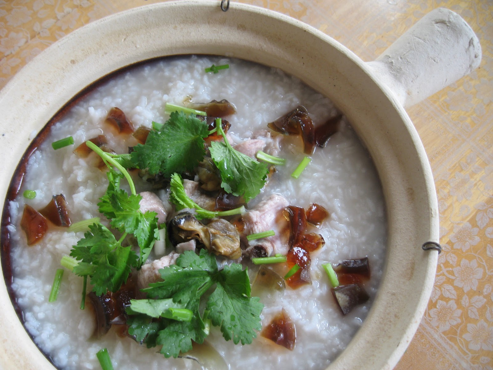 how to cook century egg pork porridge
