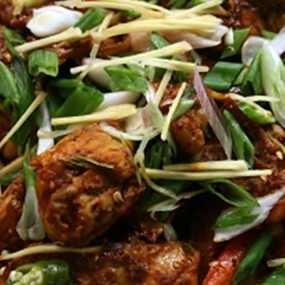 Spicy Tangy Kadhai Chicken