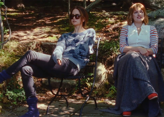 "Katherine Waterston and Elisabeth Moss are so-called friends in ""Queen of Earth"""