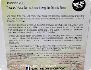 Black Box October
