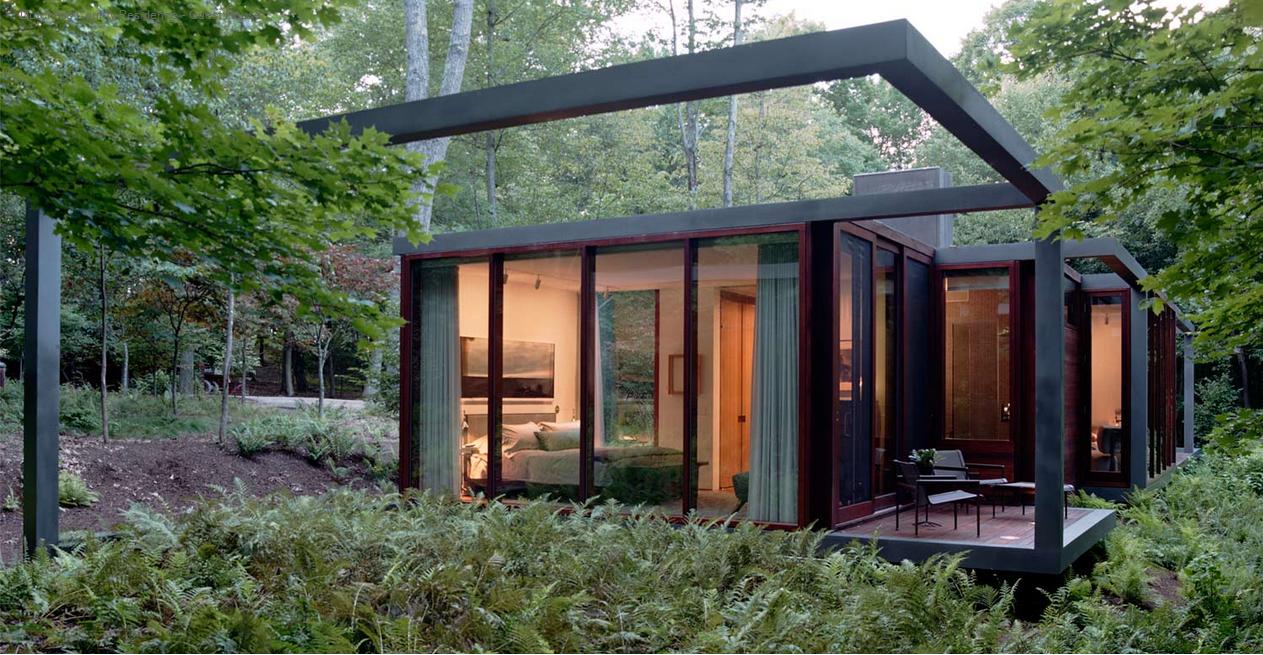 Ara azos en el cielo una casa en el bosque - Estructuras de acero para casas ...
