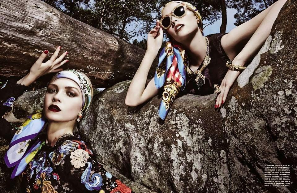 Dolce & Gabbana Alta Moda FW14 by Steve Hiett for Vogue Italia, September 2014