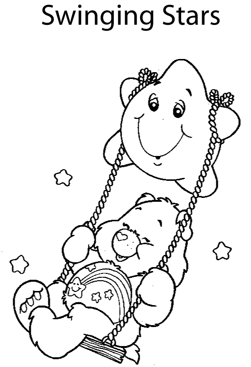 care bear coloring pages christmas - photo#7