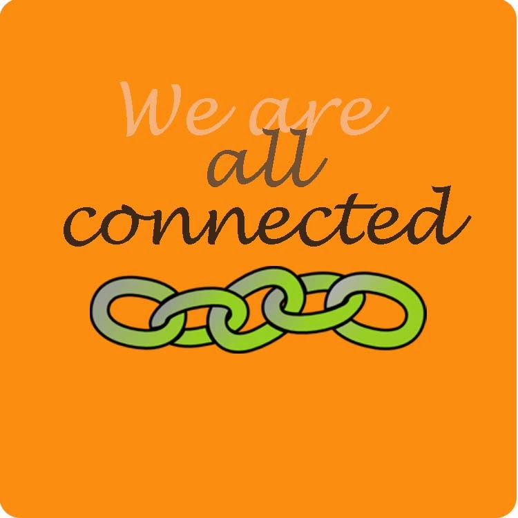We are all connected with chain link graphic below the text.