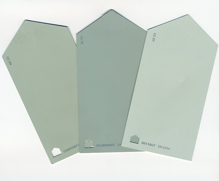 sherwin williams comfort gray silvermist sea salt