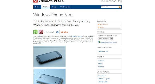 Samsung Ativ S; First Windows Phone 8