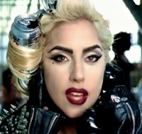 lady gaga telephone cans hair