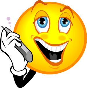 émoticône tenant un téléphone portable