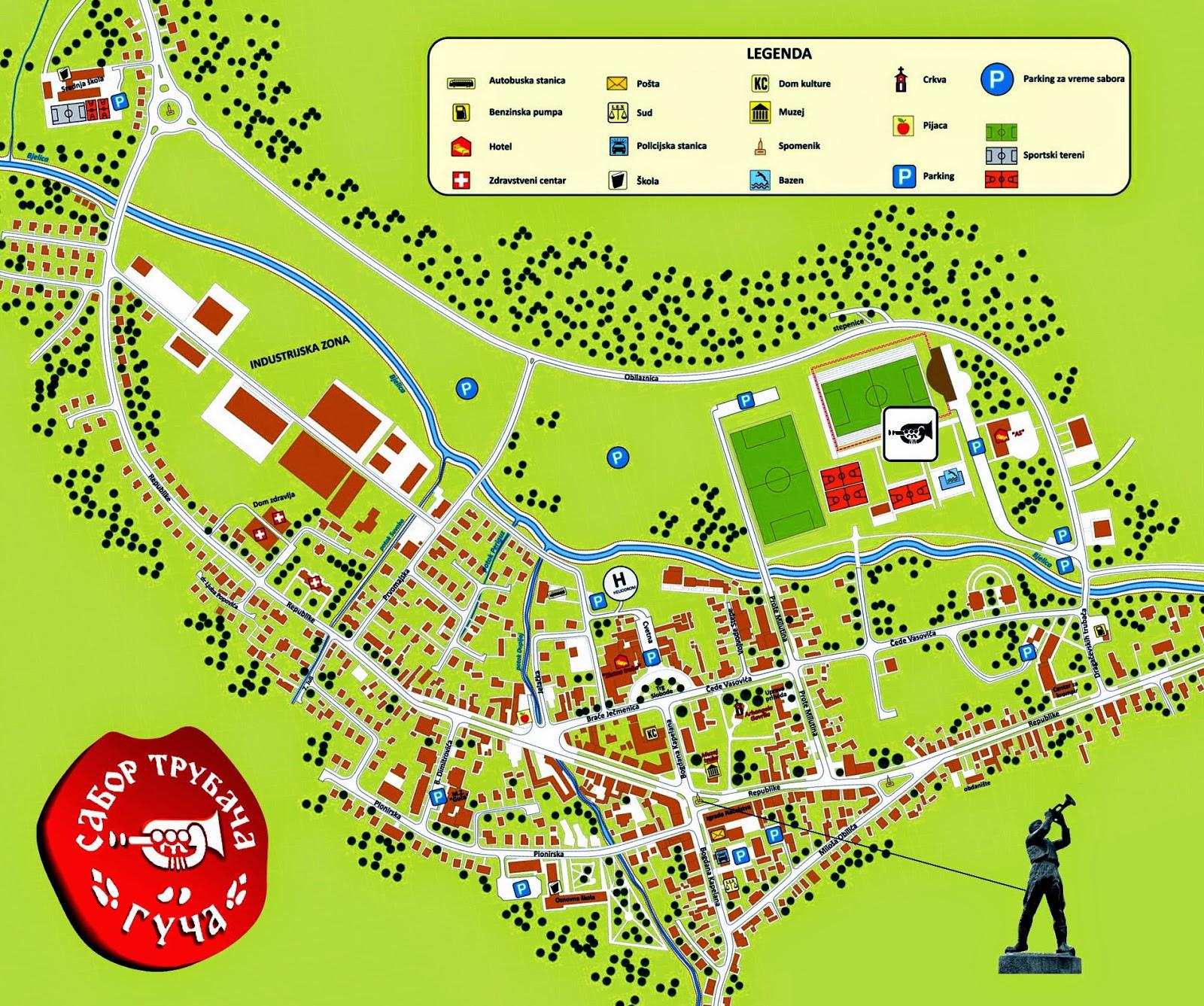Mapa de Guca