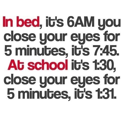 In Bed vs At School