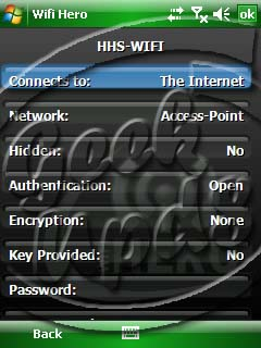 Windows Mobile Access Point Settings