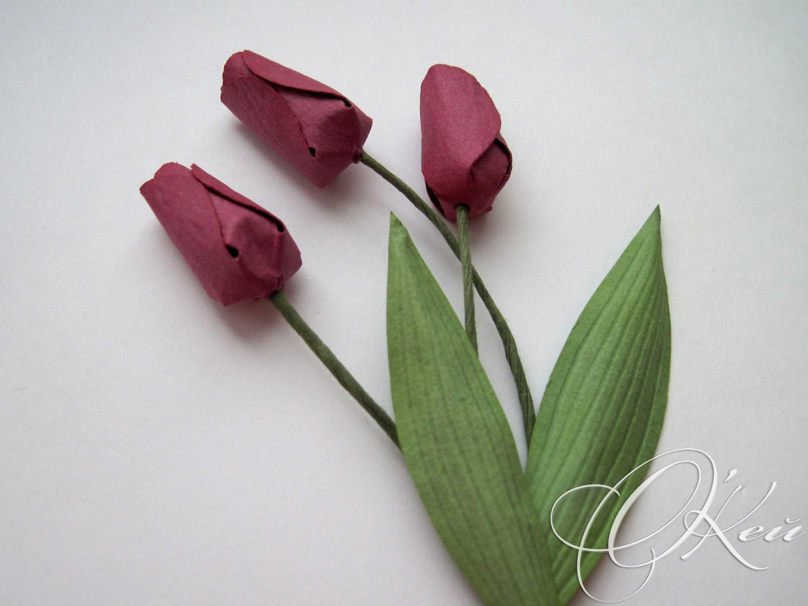 Тюльпаны из бумаги своими руками фото