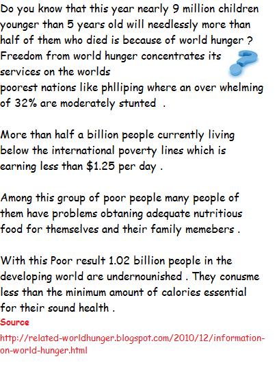 world hunger information