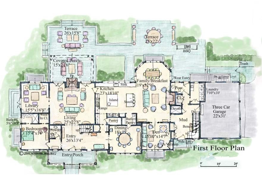 Mansion floor plans for Estate blueprints