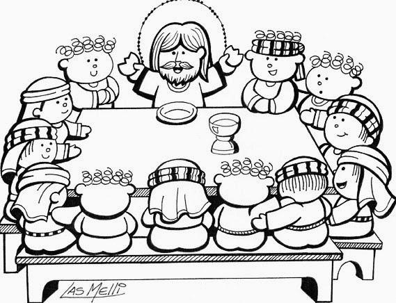 El rinc n de las melli dibujo la ltima cena para los for Cena facil para amigos