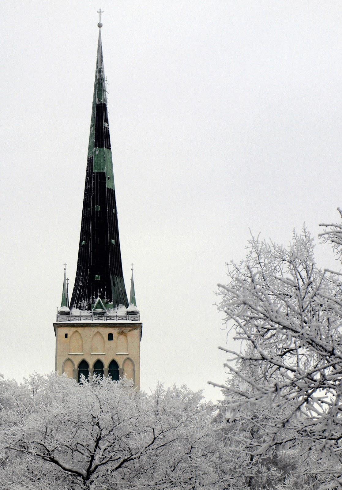 Самая высркая церковь в Таллинне-церковь Олевисте