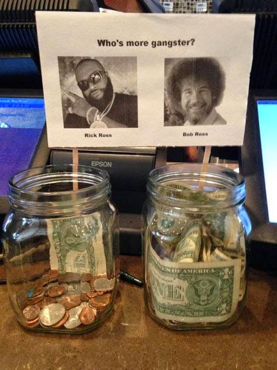 Damn cool pictures these tip jars will definitely get money for Cool money jars