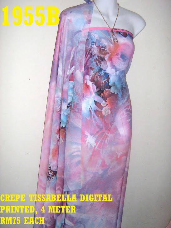 CTD 1955B: CREPE TISSABELLA DIGITAL PRINTED, EXCLUSIVE DESIGN, 4 METER