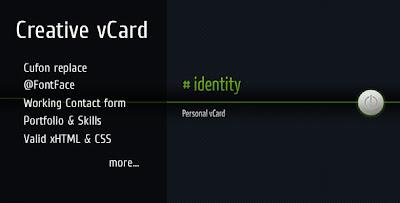 Free Portal Template identity - Creative vCard