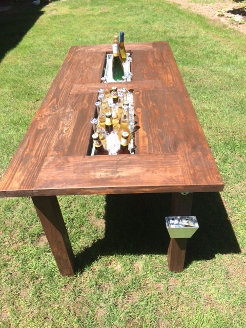 ... Outdoor Patio Table, Ice Box, Beer, Furniture, Douglas Fir, Cedar, BBQ,  Picnic, Planter Box, Wine, Drink, Cooler, 4th Of July, Gift, Birthday  Party, ...