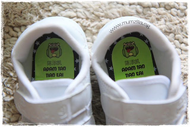 name stickers for shoes